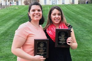 Desirae Breeden (left) and Amber Cooper (right), May 2016 MBC, BSW graduates