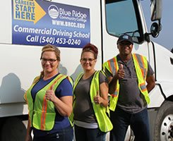 WCE CDL students in front of truck