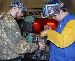 WCE welding students