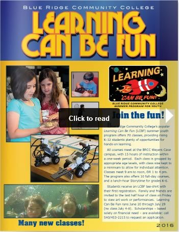 Learning Can Be Fun Magazine Cover - link to viewer