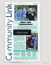 Community Link Newsletter link to open in ISSUU
