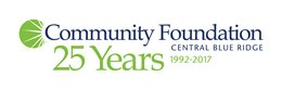 Community Foundation Central Blue Ridge 25 Years 1992-2017 logo