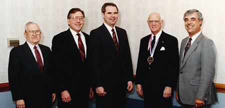 25th anniversary luncheon: Drs. Armstrong, Sears, Perkins, Hamel, Oliver