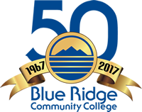 Blue Ridge Community College  1967-2017 50th anniversary logo