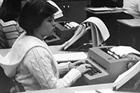 Student - Typing Class 1970s