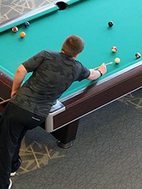 pool table in rec center