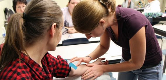 Phlebotomy students