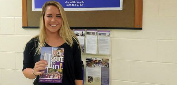 BRCC transfer student accepted for admission to JMU