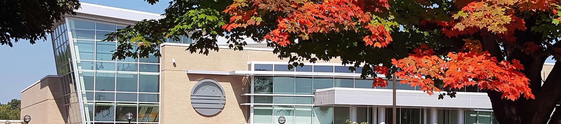 Maples start to show their Fall colors in front of the Rec Center