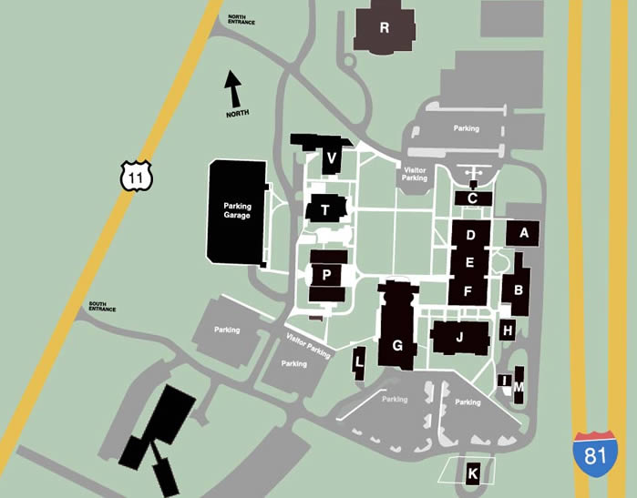 Campus Map & Directions | BRCC, Virginia