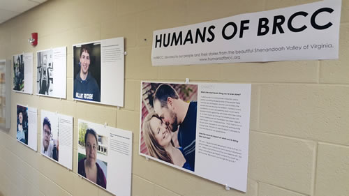 Humans of BRCC display in Fine Arts Center
