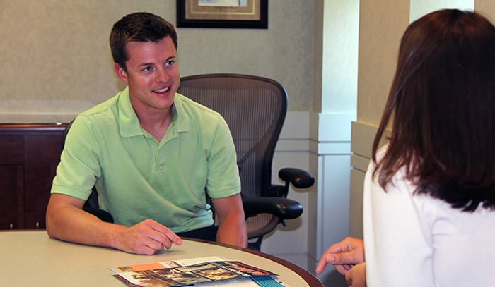 Travis Messick, Blue Ridge Community College's adult admissions advisor